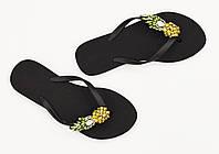 Женские пляжные тапки Zanotti Black