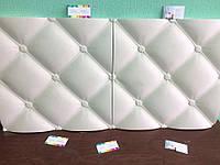 Гипсовая 3 д панель италия (подушечки, вытянутая кожа ) размер 50см на 50см на 30 мм