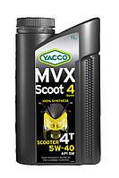 Масло для скутеров и мопедов YACCO MVX SCOOT 4 SYNTH 5W40 (1л.) для 4-тактных двигателей