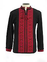 Черная вышитая рубашка в Украине