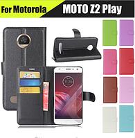Кожаный чехол книжка Lichee на Motorola Moto Z2 Play (9 цветов)