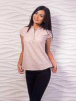 Блуза женская с воротничком стойкой p.42-48 VM1981-5