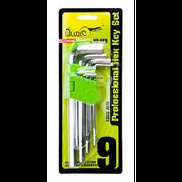 Набор ключей шестигранных Alloid НШ-0918, изогнутых удлиненных, 9 предметов, 1,5-10мм