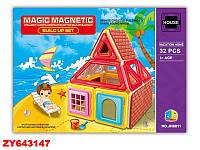 "Конструктор магнитный ""Домик"" Magic Magnetic JH8811-2 ***"