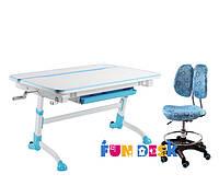 Детский стол-трансформер FunDesk Volare Blue + Детское кресло SST6 Blue