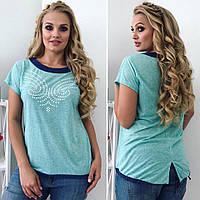 Женская футболка большие размеры, фото 1