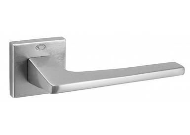 Ручка дверная CONVEX 1495 на квадратной розетке, матовый хром