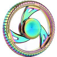 Спиннер круг металл градиент Антистресс Hand Spinner