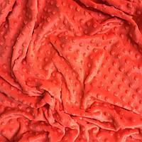 Плюш Minky цвет спелый арбуза  300 г/м2 № м-59