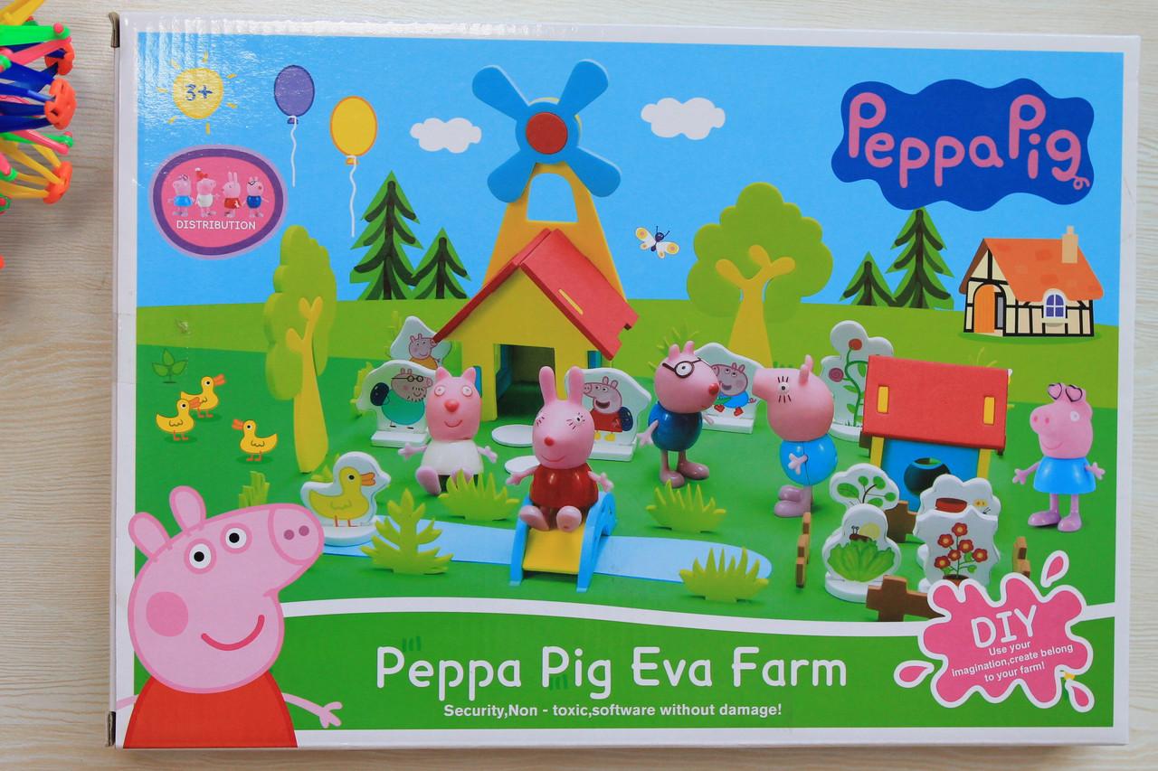 3D-пазлы домик  Свинка Пеппа мягкие в коробке 35-24,5-4,5 см - Style-Baby детский магазин в Киеве