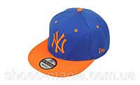 Кепка с прямым козырьком New York blue-orange