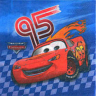 "Салфетки ""Тачки 95"" синяя. В упак: 15шт."
