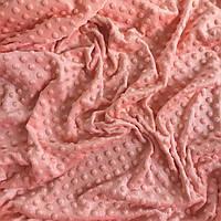 Плюш Minky персикового цвета  300 г/м2 № м-61