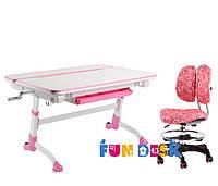 Детский стол-трансформер FunDesk Volare Pink + Детское кресло SST6 Pink