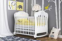 Детская кроватка «Юджин» для новорожденных ТМ Pinocchio (опции: ящик, регулировка бортика, маятник), фото 1