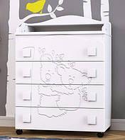 Комод с выдвижными ящиками и пеленатором «Коалы» для детской комнаты ТМ Pinocchio