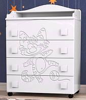 Комод с выдвижными ящиками и пеленатором «Тандем» для детской комнаты ТМ Pinocchio
