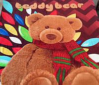 Микрофибровая простынь, покрывало TRUE LOVE полуторное Мишка Тедди