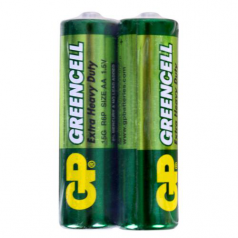 Батарейка GP GREENCELL 1.5V, солевая, 15G-S2 , R6, АА (4891199006425)