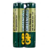 Батарейка GP GREENCELL 1.5V, солевая, 24G-S2 , R03, ААA (4891199000454)