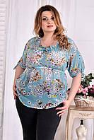 Легкая блузка для полных женщин 0544 мята