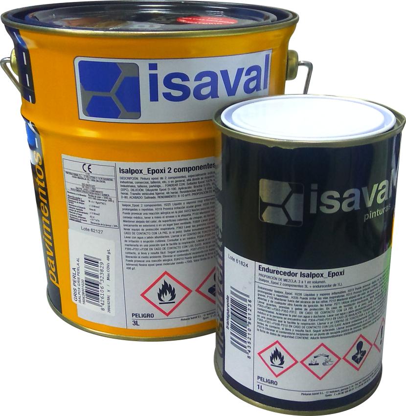 Эпоксидная краска для бетонных полов и металлических конструкций, двухкомпонентная Изалпокс база TR 4л до 30м2 - ХимОлимп  в Киеве