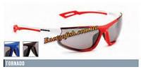 Очки Eyelevel поликарбонат TORNADO черные, оправа красно-белая