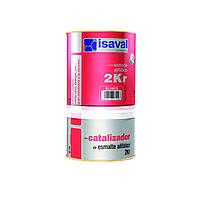 Полиуретановая универсальная эмаль ISAVAL 2КР 0,75 л - по металлу, бетону и камню