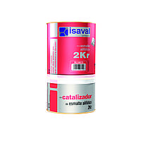 Полиуретановая универсальная эмаль ISAVAL 2КР 16 л - по металлу, бетону и камню