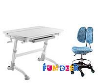 Детский стол-трансформер FunDesk Volare Grey + Детское кресло SST6