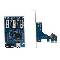 PCI-E 1X хаб концентратор разветвитель множитель PCI-E 1 1X to 3 1X USB 3.0, фото 1