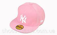 Кепка с прямым козырьком New York pink