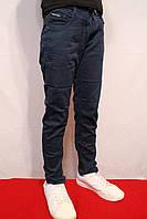 Школные темно-синие котоновые брюки  для мальчиков от 6-12лет (116-146см.) (школа-2017г) TAURUS.Венгрия.