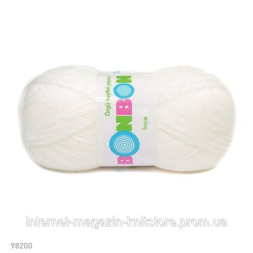 Пряжа Nako Bonbon Ince Білий