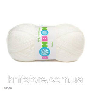 Пряжа Nako Bonbon Ince Белый