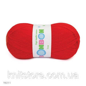 Пряжа Nako Bonbon Ince Красный