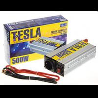 Преобразовательнапряжения TESLA ПН-22500, 12V-220V, 500W, USB-5VDC0,5A, мод.волна, клеммы