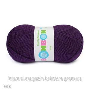 Пряжа Nako Bonbon Ince Тёмно фиолетовый