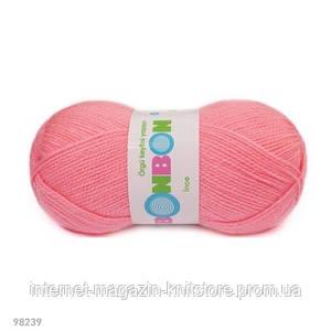 Пряжа Nako Bonbon Ince Розовый