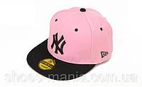 Кепка с прямым козырьком New York black-pink, фото 1