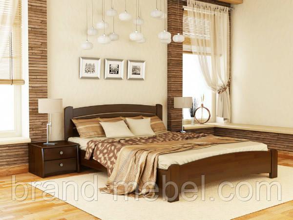 Дерев'яне ліжко двоспальне Венеція Люкс / Деревянная кровать двуспальная Венеция Люкс