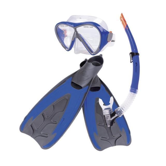Набор для плавания маска + трубка + ласты Spokey Merquis r. M