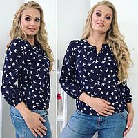 Женская блуза свободный покрой три четверти рукав, фото 1