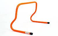 Барьер беговой для легкой атлетики 4592-30: пластик, размер 30x46x30см