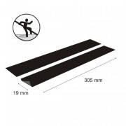 Противоскользящая, абразивная, самоклеящаяся накладка 305х19х0,75мм (полоса чёрная)