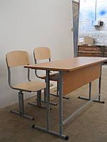 Стулья и парты регулируемые.Школьная мебель.