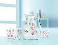 Beliarosa Набор для воды (кувшин 1,6л+ стакани 270мл-6шт) 7 предметов стекло Luminarc