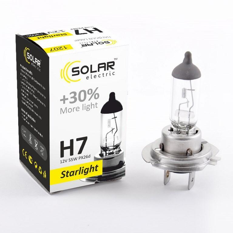 Галогеновая лампа Solar H7 +30% 12v/55w