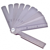 Комплект щупов для свечей зажигания Alloid, 0,05-0,63мм, 15 предметов (КЩ-6026)