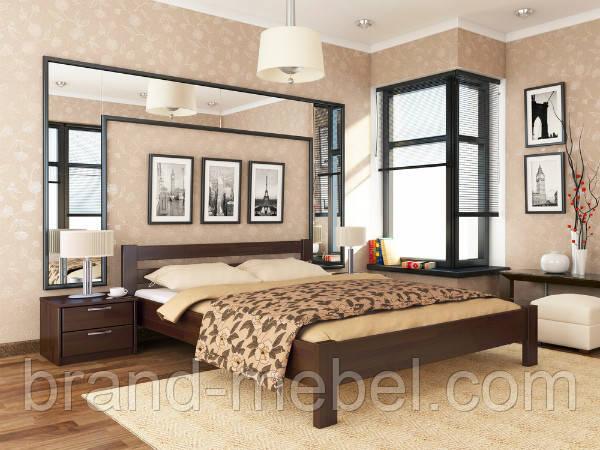 Дерев'яне ліжко двоспальне Рената / Деревянная кровать двуспальная Рената